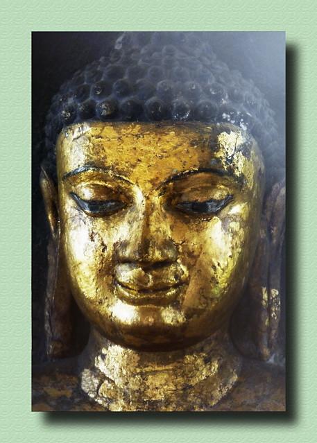 India - Uttar Pradesh - Kushinagar - Matha Kuar Shrine - Buddha Statue - 7