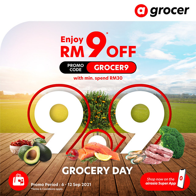 Tawaran Terbaik Untuk Makanan &Amp; Barangan Runcit Di Airasia Super App Sempena 9.9