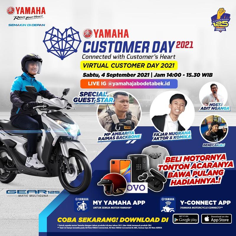 Yamaha bagi-bagi hadiah di hari pelanggan nasional