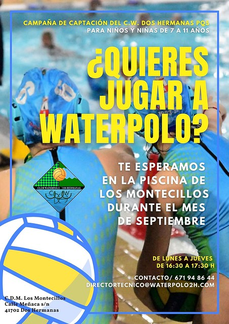 Cartel campaña waterpolo - C.W. DOS HERMANAS PQS