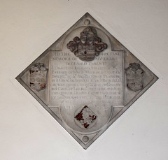 They being bury'd in this church, desirous to be layd here with my parents have erected this memorial as wel for them as my selff (1657)
