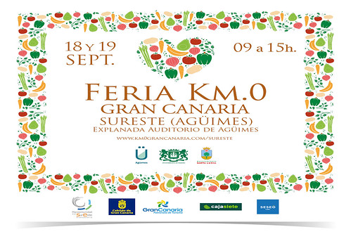 Cartel promocional de la Feria KM.0 Gran Canaria en Agüimes