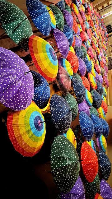 Umbrellas festival.