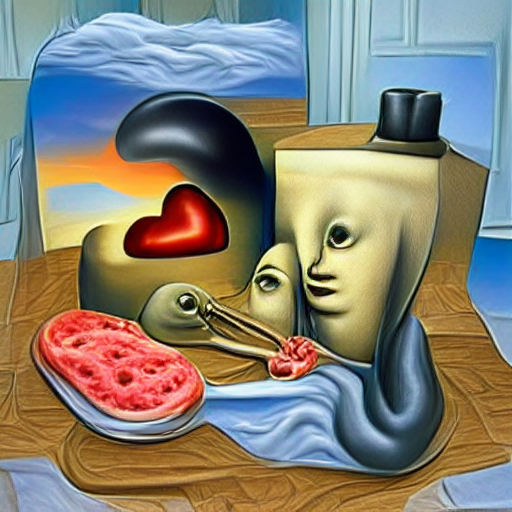 'a surrealist painting of love' Experimental VQGAN