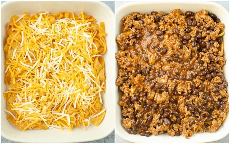 Making of Frito Pie Casserole
