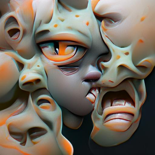 'a nightmare' Experimental VQGAN
