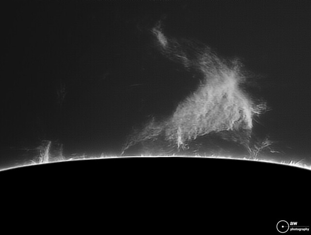 Solar Prominence in Hydrogen Alpha