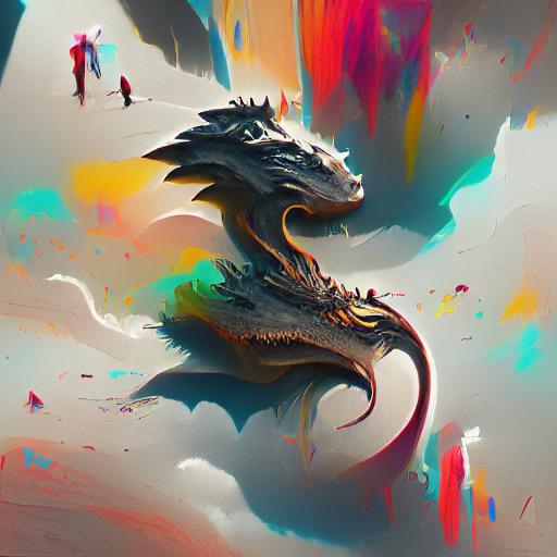 'a dragon' Experimental VQGAN