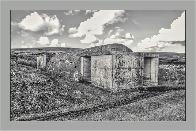 War Time Bunker, Hoy, Orkney Islands, Scotland UK