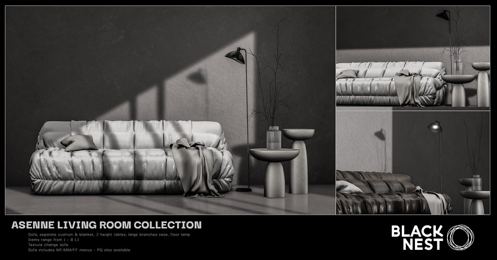 BLACK NEST | Asenne Living Room Collection | Collabor88