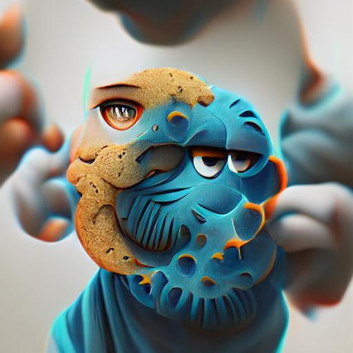 'Cookie Monster' Experimental VQGAN