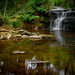 Waterfall in Redisher Wood, Bury, Greater Manchester, North West England