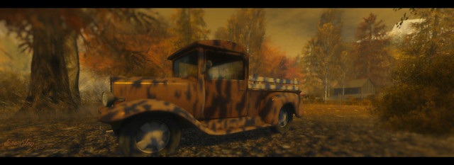 Hello Autumn -The Old Pickup Truck at Deer River