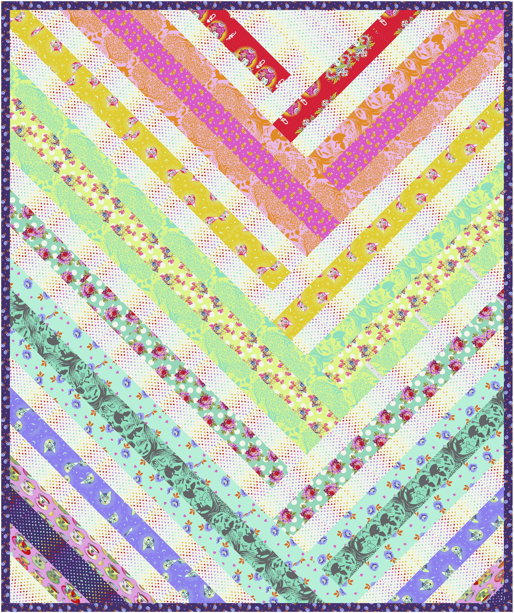 The Zoe Quilt in Curiouser and Curiouser - Kitchen Table Quilting