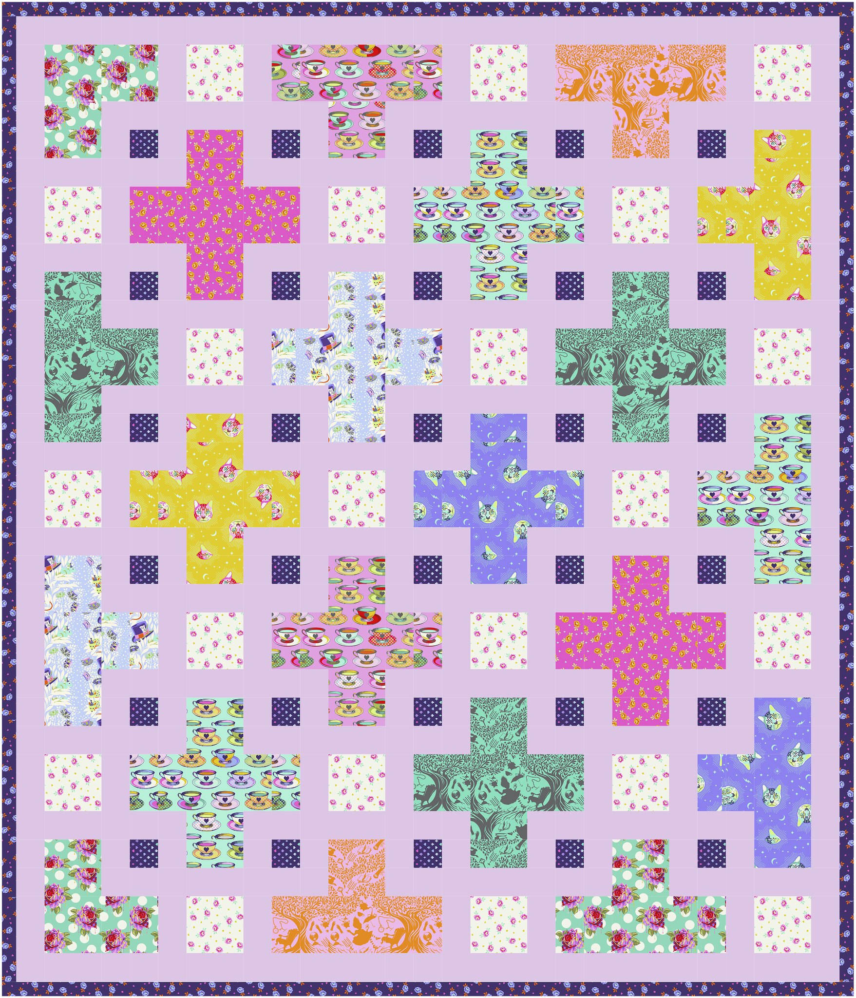 The Violet Quilt in Curiouser and Curiouser - Kitchen Table Quilting