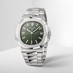 Relojes y milagros 2021 - Nueva réplica Patek Philippe Nautilus de 40 mm con esfera verde oliva