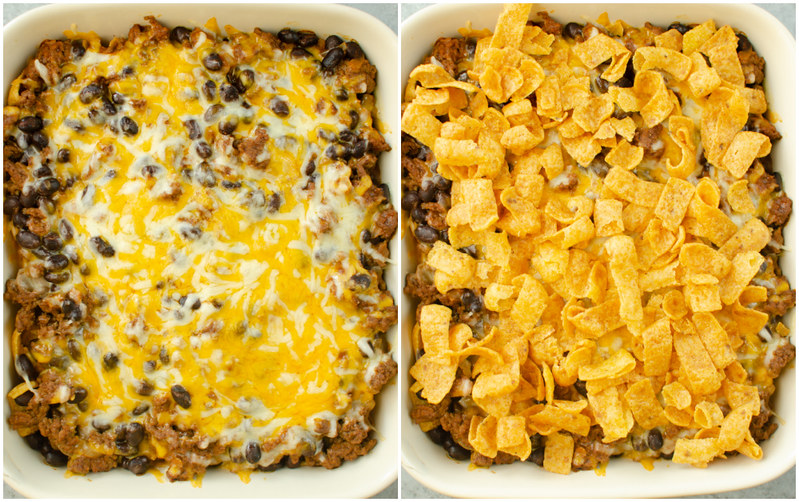 Steps to making Frito Pie Casserole