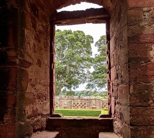 Edzell Castle window, near Brechin, Scotland