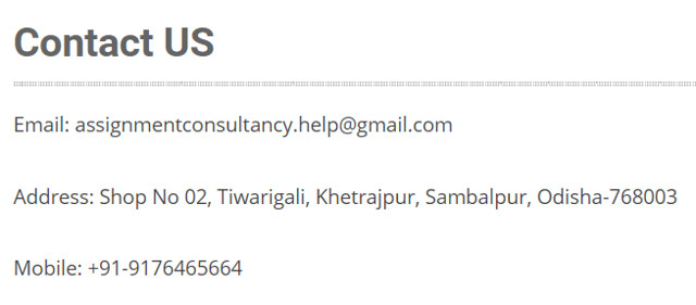 AssignmentConsultancy contact page
