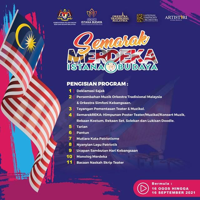 Poster Semarak Merdeka Istana Budaya