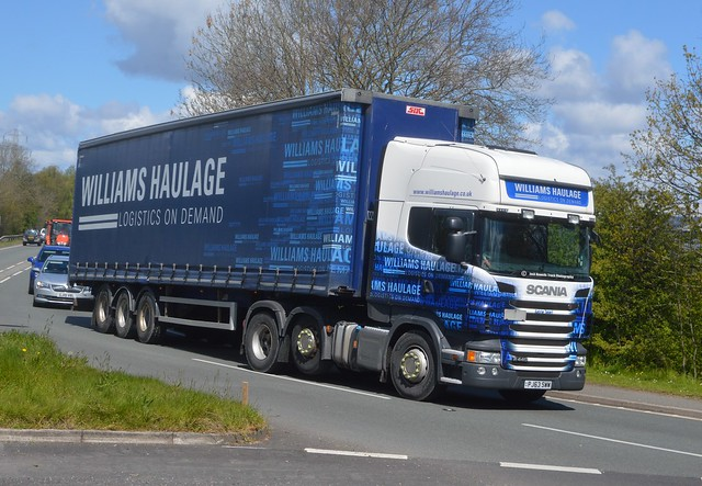 Williams Haulage PJ63 SWW Driving Along the A5 At Oswestry