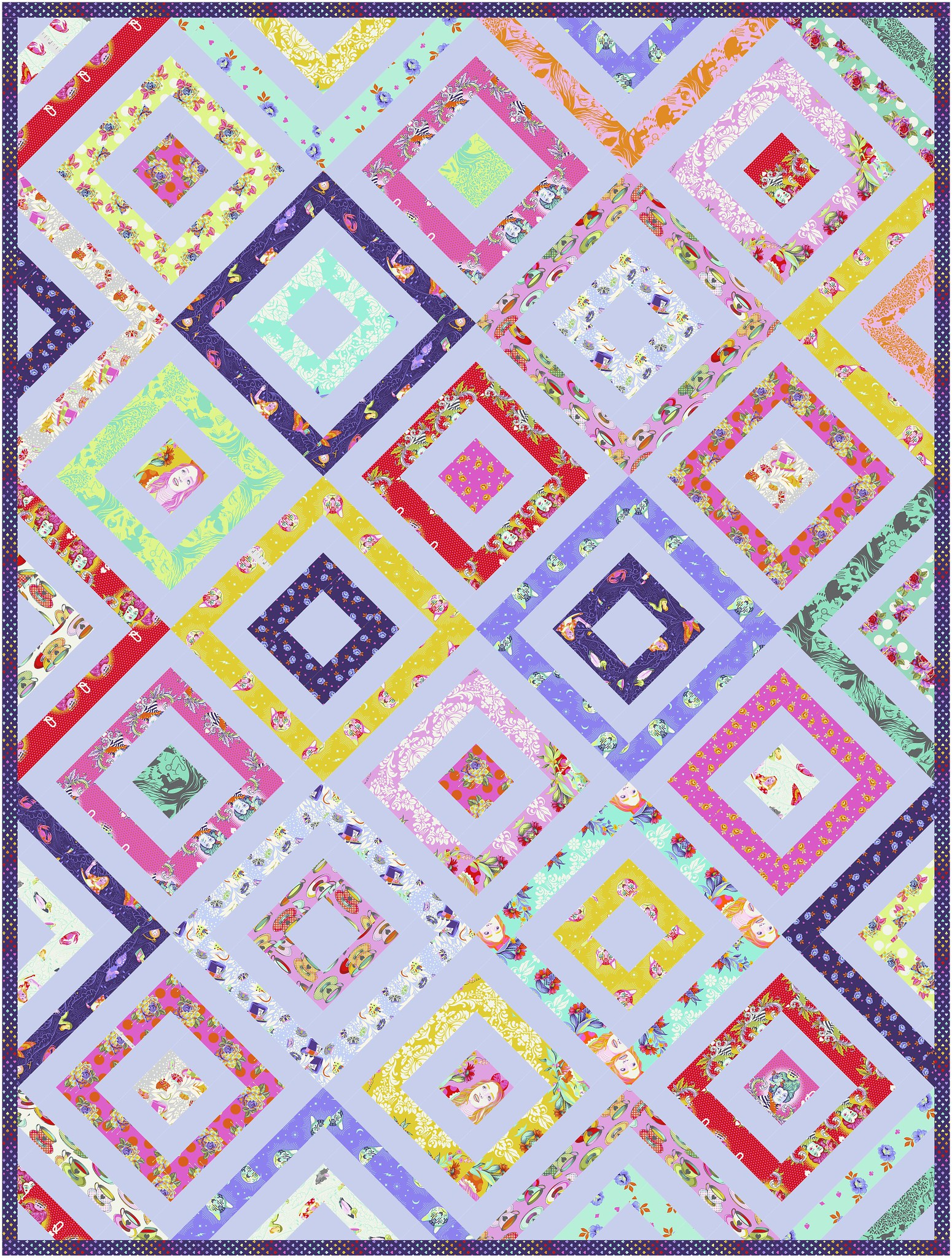 The Sadie Quilt in Curiouser and Curiouser - Kitchen Table Quilting
