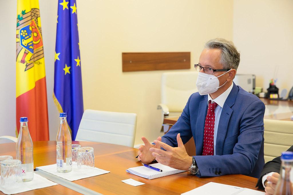 08.09.2021 Întrevederea șefului Delegației Parlamentului Republicii Moldova la AP OSCE, Vladimir Bolea, cu șeful Misiunii OSCE, Claus Neukirch.