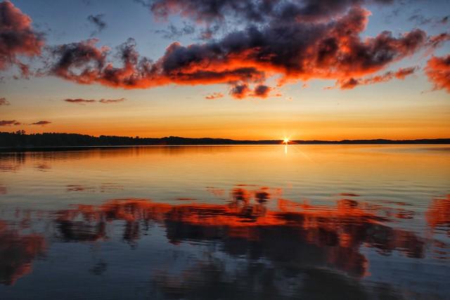 Sunrise reflection, Bear Lake, Michigan