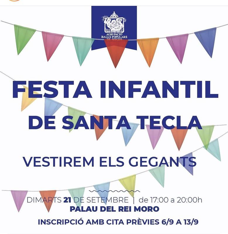 Fiesta Infantil de Santa Tecla – Vestim els Gegants Moros