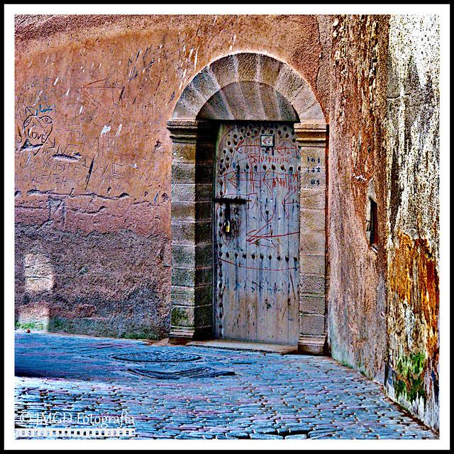 Wooden Door in Essaouira