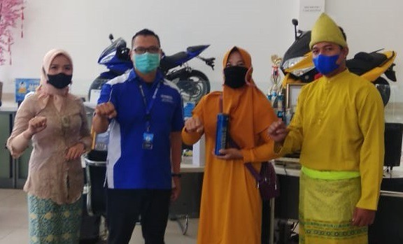 Momen Spesial Hari Pelanggan Nasional, Konsumen Bersama Yamaha Bangka Belitung