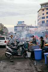 Street life in Phnom Penh, Cambodia