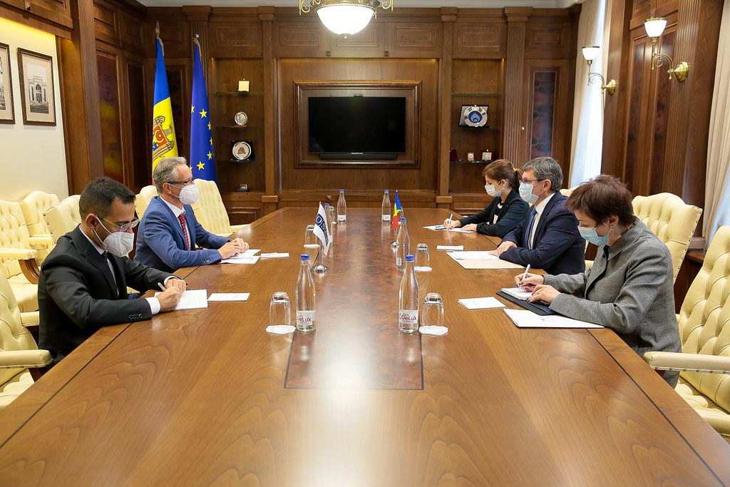 08.09.2021 Întrevederea Președintelui Parlamentului, Igor Grosu, cu Șeful Delegației UE în Moldova, Jānis Mazeiks