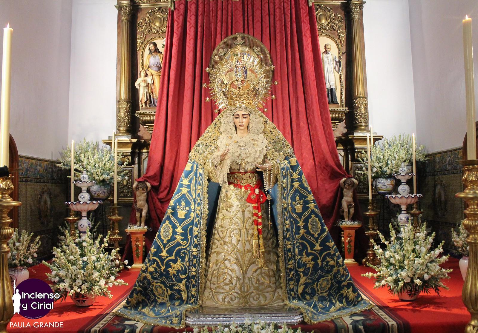 Las imágenes de la veneración en honor a la Virgen de la Salud