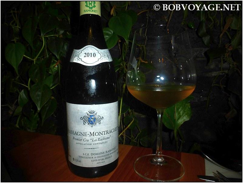 """Domaine Ramonet Chassagne Montrachet 1er """"Les Ruchottes"""" 2010 ב- מסעדת משייה (Mashya)"""