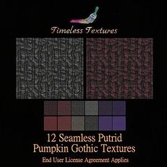 TT 12 Seamless Putrid Pumpkin Gothic Timeless Textures