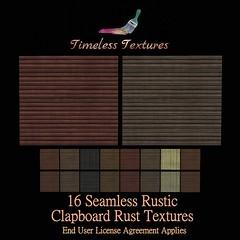 TT 16 Seamless Rustic Clapboard Rust Timeless Textures