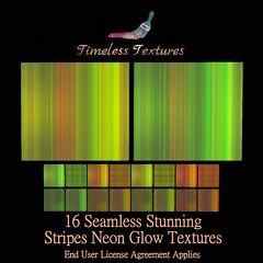 TT 16 Seamless Stunning Stripes Neon Glow Timeless Textures