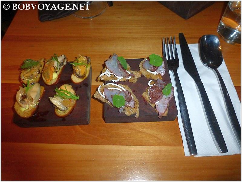 פסטרמה לוקוס מעושן ומחמצת מולים ב- מסעדת משייה (Mashya)