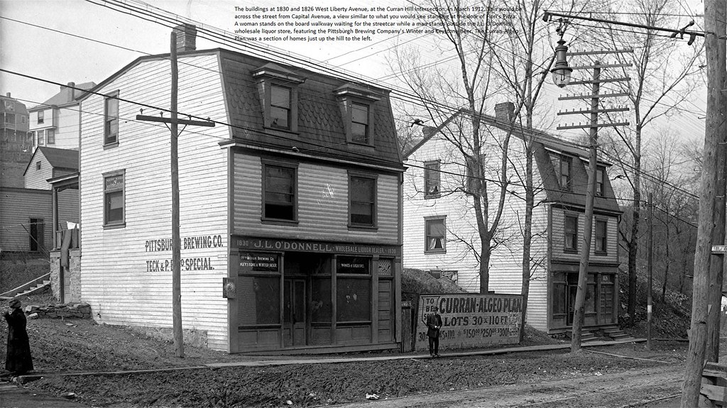 Pittsburgh West Liberty Avenue at Curran Hill Avenue intersection March 1912