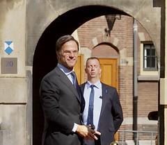 Mark Rutte in het zonnetje