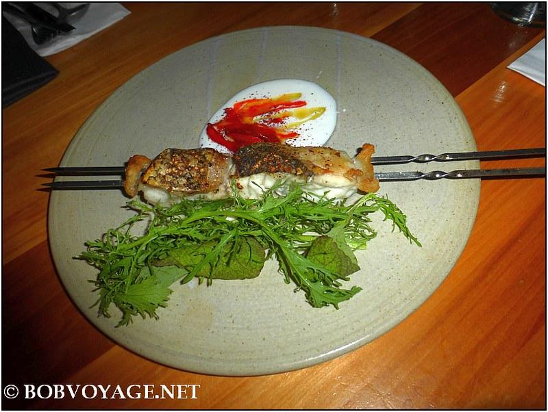 שיפוד לוקוס ושומן ליה ב- מסעדת משייה (Mashya)