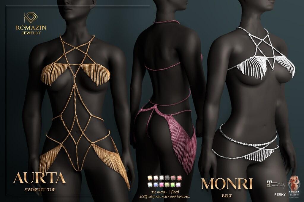 RJ - Swimsuit - Top <Aurta>, Belt <Monri>@ BLACK FAIR