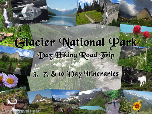 A few photos and hiking itineraries and best hikes from Glacier National Park, Montana