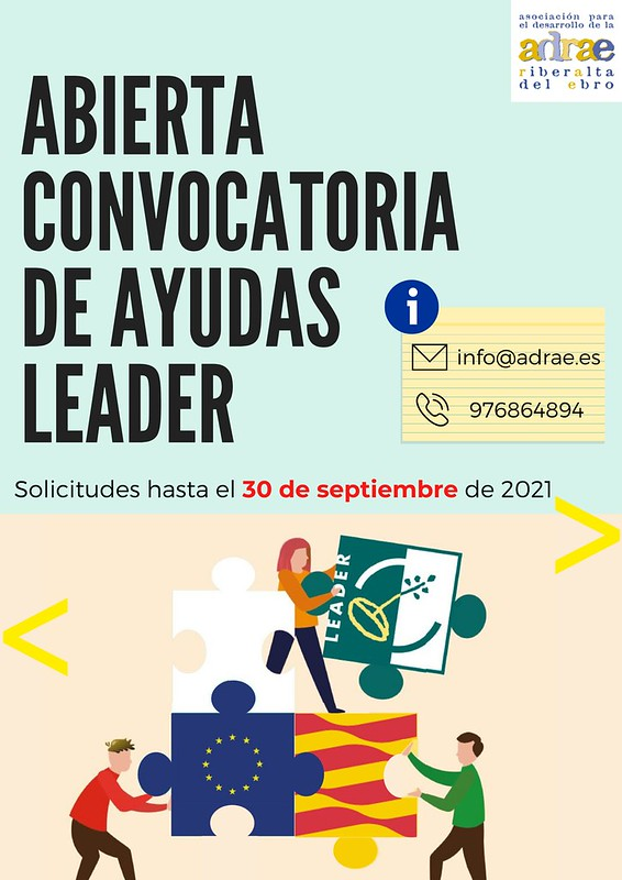 ABIERTA CONVOCATORIA DE AYUDAS LEADER