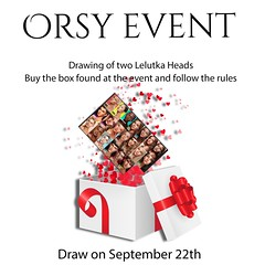 The Orsy event will give two heads of lelutka to two different people on September 22nd