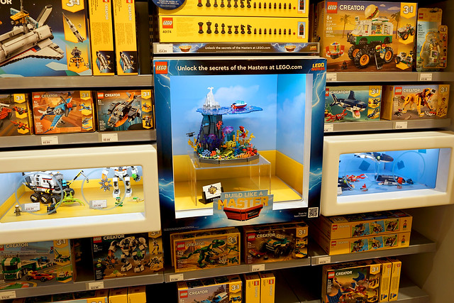 Shipwreck MOC on display at Ross Park LEGO store
