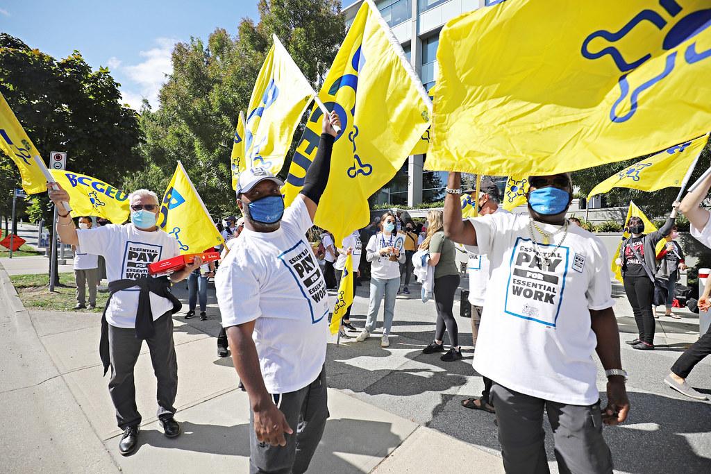 September 1, 2021 rally at BCLDB head office