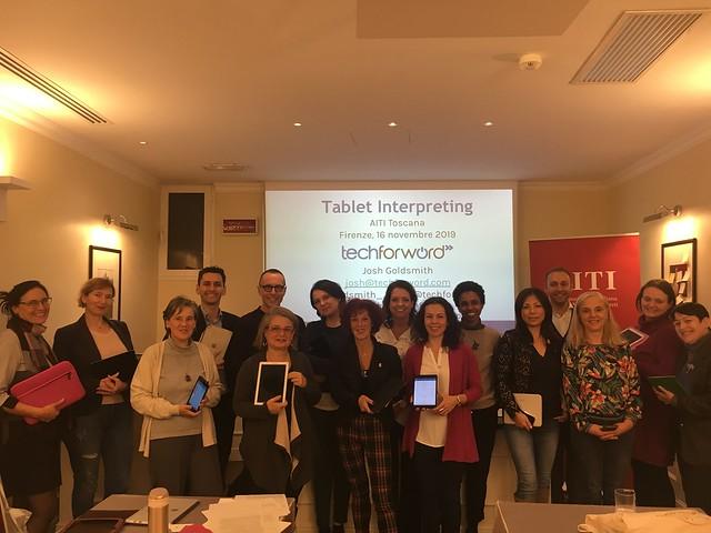 """Seminario """"Tablet Interpreting: suggerimenti, strumenti e applicazioni per ottenere il massimo dal tuo tablet durante l'interpretazione"""" - 16 novembre 2019"""