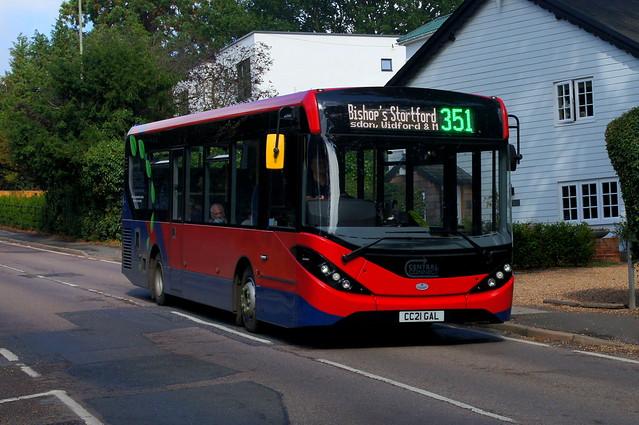 Breaking Grounds: Trustybus ADL Enviro200MMC CC21GAL Hadham Road Bishops Stortford 09/09/21
